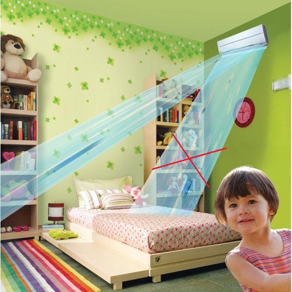 7 chú ý khi cho trẻ ngủ phòng máy lạnh